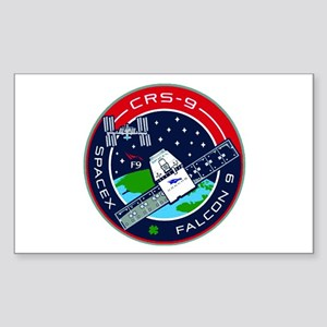 CRS-9 Flight Logo Sticker (Rectangle)